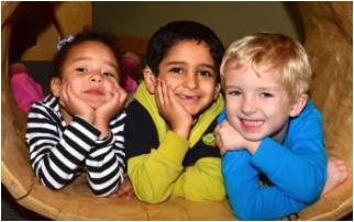 three pre-school children