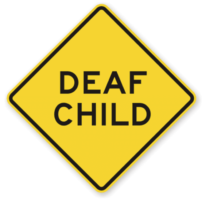 Deaf child nearby sign Louisville KY
