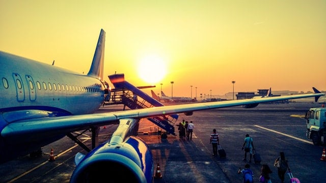 airplane on a tarmac