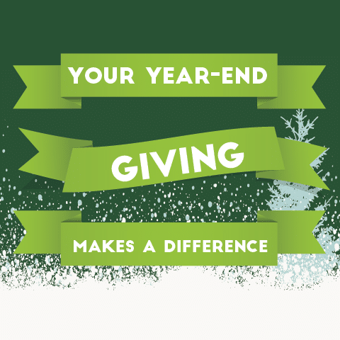 Your Year-End Giving Makes A Difference poster